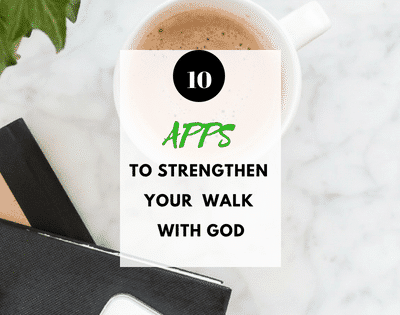 Looking for ways to transform your walk with God while on the go? Check out my list of 10 Apps that will strengthen your walk with God. These apps have helped me spend more time in God's word and in his presence throughout​ the day