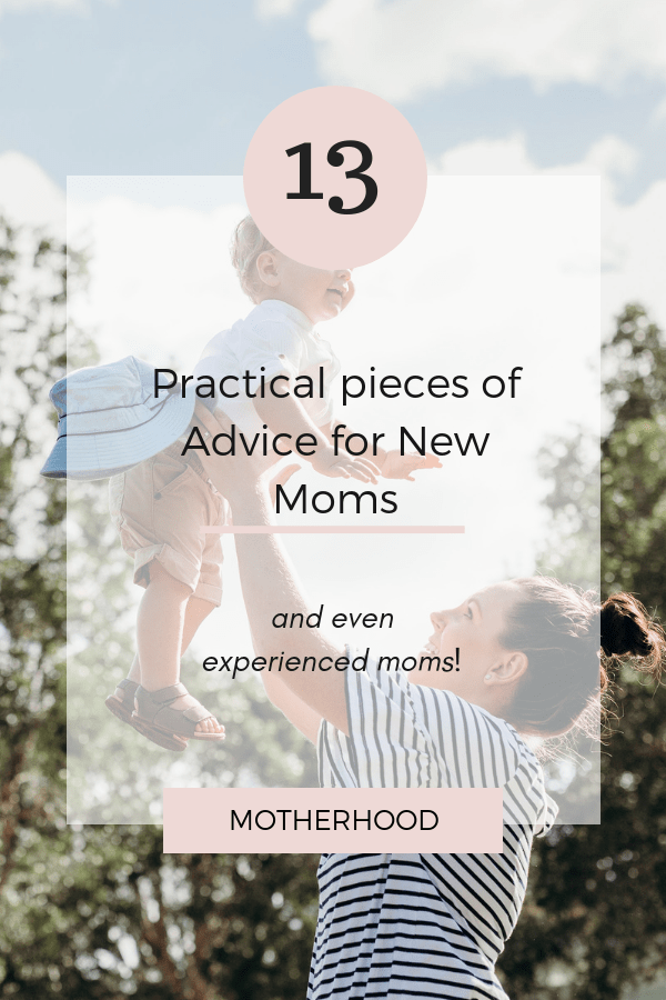Advice for new moms and even experienced moms as well. Learn some practical tips and advice to help make motherhood a little easier. Get some encouraging words of wisdom to help you in this journey of motherhood.