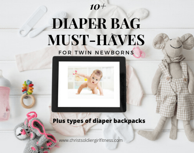 Infant Twin diaper bag essentials for going out